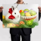 Easter White Rabbit Poster 36x24 inch