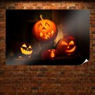 Funny Pumpkin Lights Poster 36x24 inch