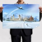 Snow Over The World Poster 36x24 inch