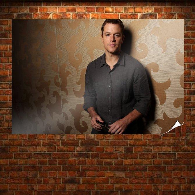 Matt Damon Actor Poster 36x24 inch