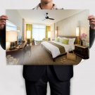 Modern Bamboo Bedroom Poster 36x24 inch