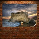 Hdr Sea Rock Poster 36x24 inch