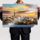 Sunset In Istambul Poster 36x24 inch