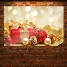 Christmas Gift Box And Decorations Poster 36x24 inch