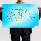 Happy New Year 2013 Poster 36x24 inch