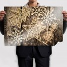 Gold Small Christmas Ornaments Poster 36x24 inch