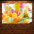 Traditional Easter Eggs Poster 36x24 inch