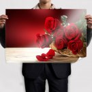 Fresh Red Roses Poster 36x24 inch