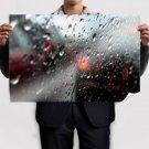 Fresh Rain Drops Poster 36x24 inch