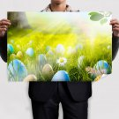 Easter Eggs Field Poster 36x24 inch