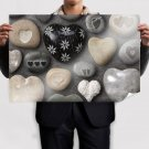 Pebbles Of Love Poster 36x24 inch