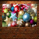 Colorful Christmas Globe Collection Poster 36x24 inch