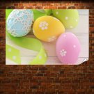 Bright Easter Eggs Poster 36x24 inch