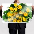 Yellow Roses Bucket Poster 36x24 inch