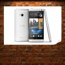 Htc One White Poster 36x24 inch