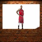 Derrick Rose White Background  Poster 36x24 inch
