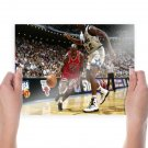 Shaquille O Neal Michael Jordan  Poster 24x18 inch