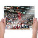 Michael Jordan Dunks From The Free Throw Line Wallpaper Poster 24x18 inch