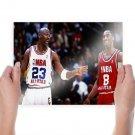 Kobe Bryant Michael Jordan Wallpaper Poster 24x18 inch
