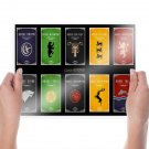 Game Of Thrones House Crests  Poster 24x18 inch