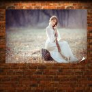 Girl With Long Hair  Poster 36x24 inch