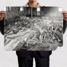 Skeletons Indian Burial Ground Retro Vintege Poster 32x24 inch