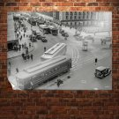 Street Trolley Classic Car Classic Retro Vintege Poster 32x24 inch