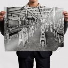 Factory Shop Retro Vintege Poster 32x24 inch