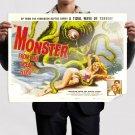 Monster From The Ocean Floor Movie Poster Retro Vintege Poster 32x24 inch