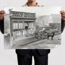 Butcher Carriage Horse Building Retro Vintege Poster 32x24 inch