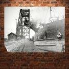 Ship Railroad Rails Retro Vintege Poster 32x24 inch
