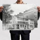 Saloon Buildings Retro Vintege Poster 32x24 inch