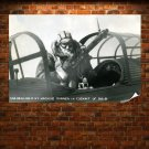 Wwii World War Soldier Gunner Retro Vintege Poster 36x24 inch