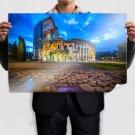 Colosseum Rome Retro Vintege Poster 36x24 inch