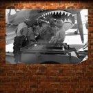 Airplane Plane Wwii World War P 40 Retro Vintege Poster 36x24 inch