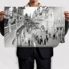 Elephant Buildings Shorpy Retro Vintege Poster 36x24 inch