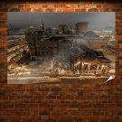 Buildings Night Lights  Poster 36x24 inch