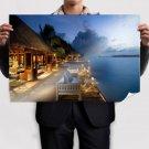 Resort Ocean Patio  Poster 36x24 inch