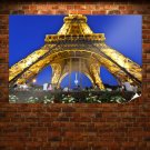 Eiffel Tower Tower Paris Lights  Poster 36x24 inch
