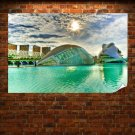 Building Spain Hdr  Poster 36x24 inch