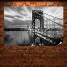 Bridge River George Washington Bridge New Jersey  Poster 36x24 inch