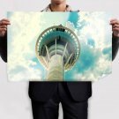 Macau Tower Tower Clouds  Poster 36x24 inch