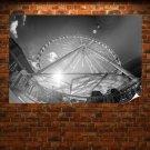 Ferris Wheel Fisheye  Poster 36x24 inch