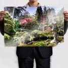 Hdr Asian Garden Yard  Poster 36x24 inch