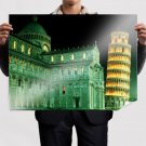 Leaning Tower Of Pisa Buildings Italy  Poster 32x24 inch