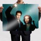 The X Files David Duchovny Flashlight Redhead Gillian Anderson Tv Movie Poster 32x24 inch