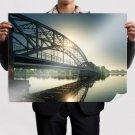 Bridge Sunlight River Reflection  Poster 32x24 inch