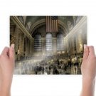 Train Station Grand Central Station Station New York United States Hdr  Poster 24x18 inch