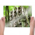 Asian Building Kyoto Japan  Poster 24x18 inch