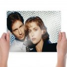 The X Files Gillian Anderson David Duchovny Face Tv Movie Poster 24x18 inch